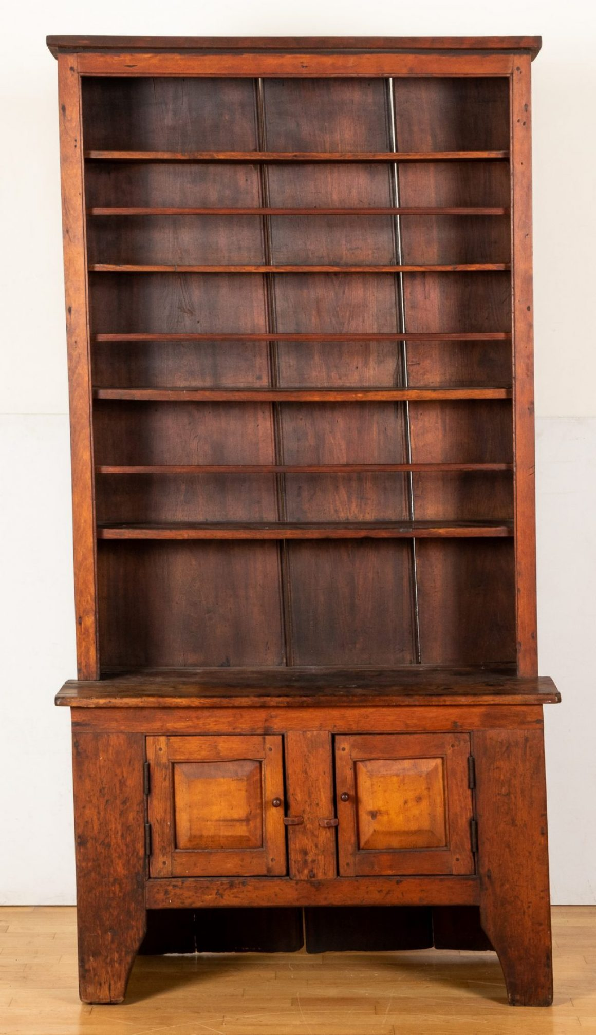 Cherry stepback cupboard, early 19th c.